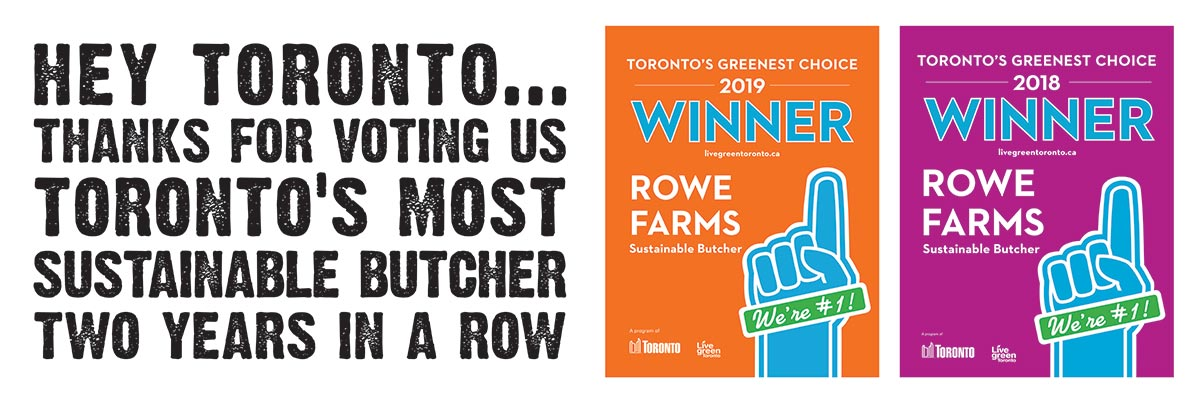 Toronto's Greenest Choice - Sustainable Butcher 2018 and 2019 Winner